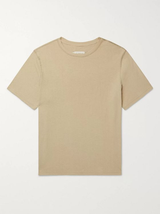 Satta Reishi Garment-Dyed Hemp and Organic Cotton-Blend T-Shirt