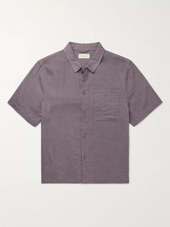 Satta Paseo Linen and Cotton-Blend Shirt