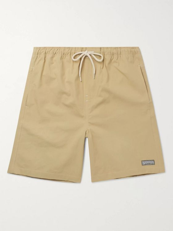 Satta Ibai Cotton-Poplin Drawstring Shorts