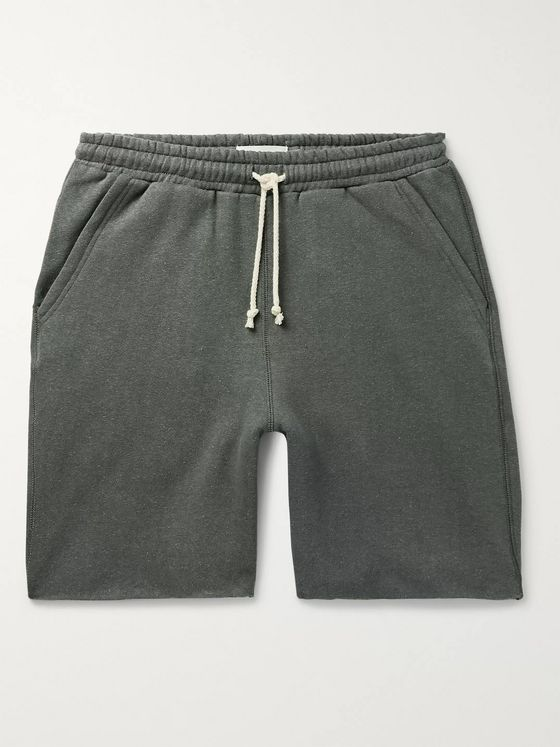 Satta Fleece-Back Cotton and Hemp-Blend Jersey Drawstring Shorts