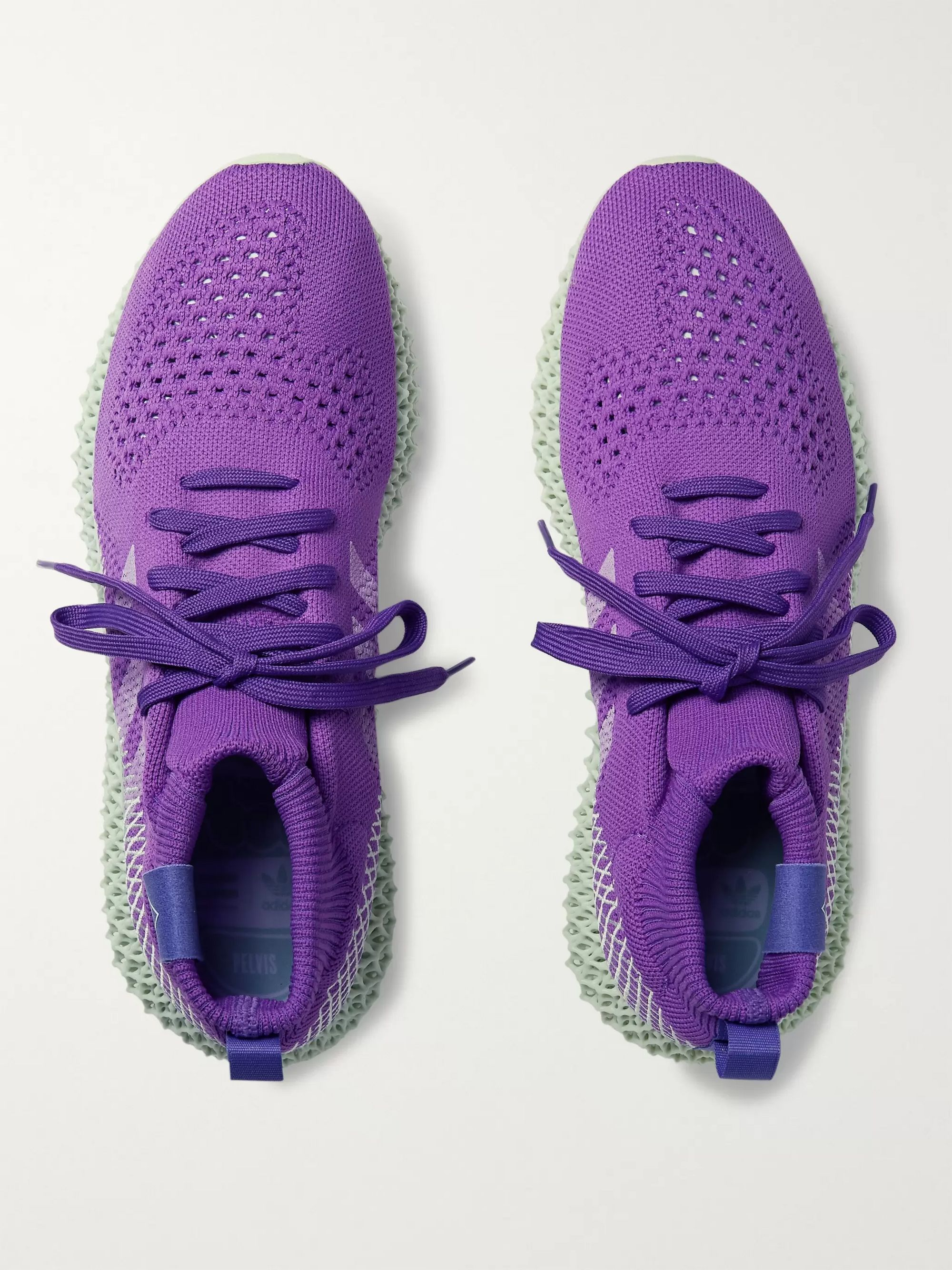 adidas Consortium + Pharrell Williams 4D Runner Embroidered Primeknit Sneakers