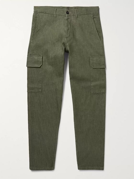 Mr P. Slim-Fit Selvedge Denim Cargo Trousers
