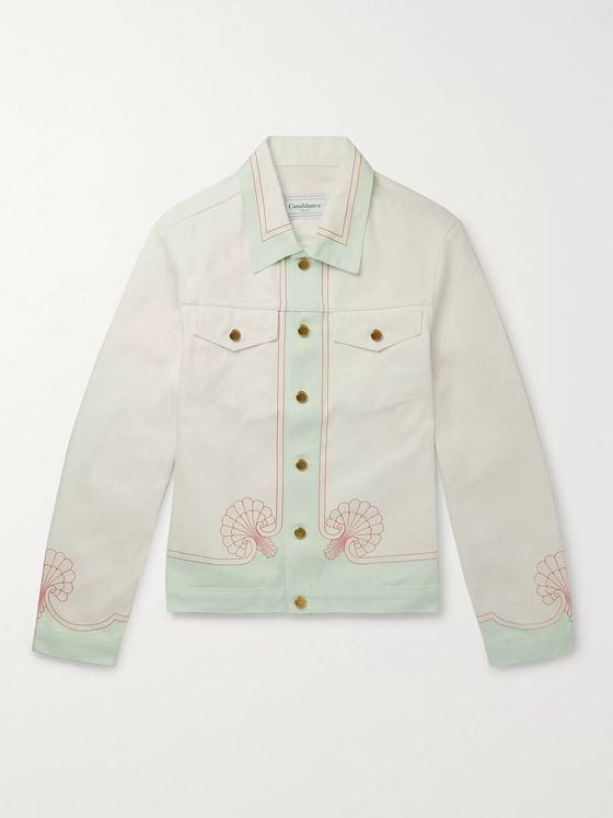 Casablanca Les Coquillages Printed Denim Jacket
