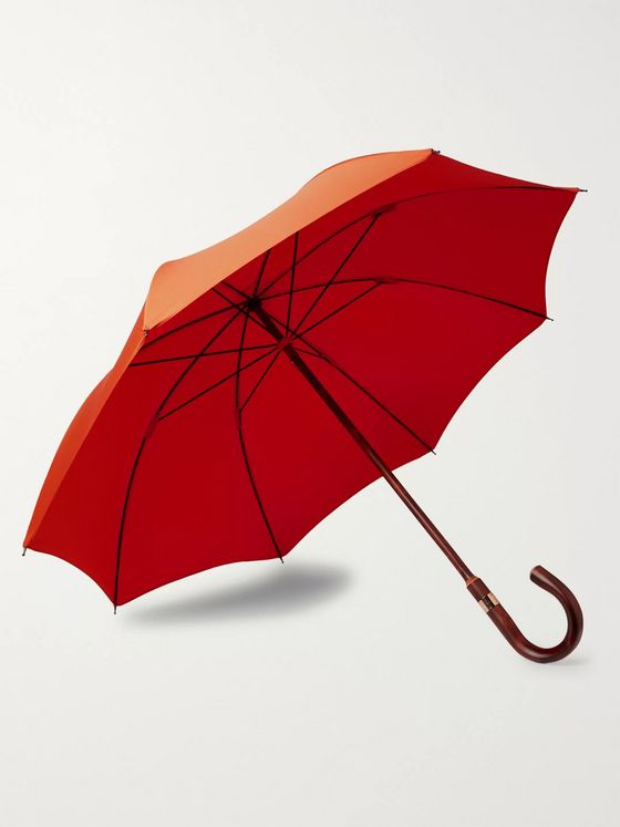 Kingsman + London Undercover Chestnut Wood-Handle Umbrella
