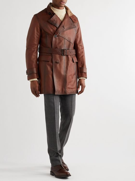 Kingsman Burnished-Leather Jacket