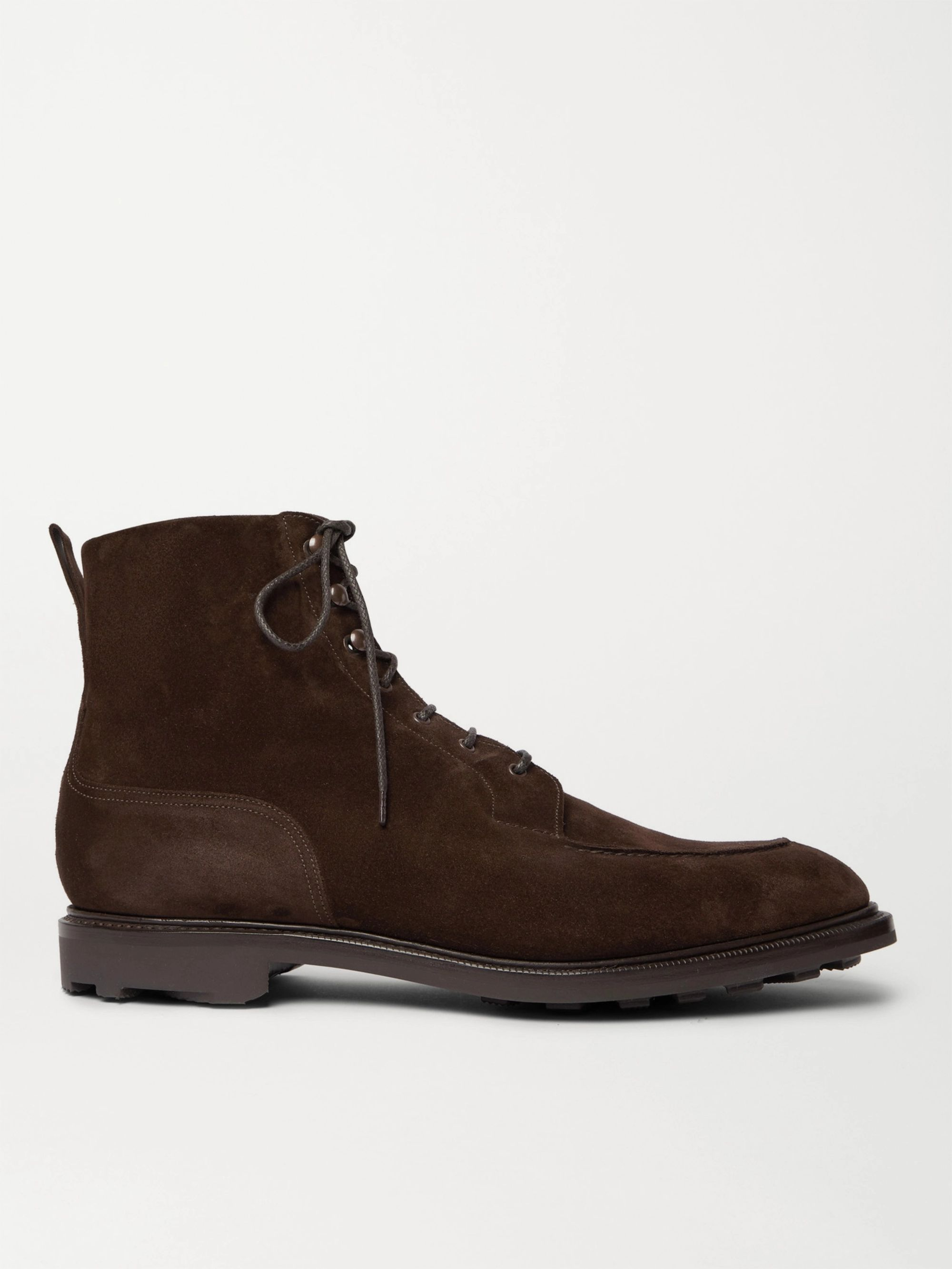 Edward Green Cranleigh Shearling-Lined Full-Grain Leather Boots