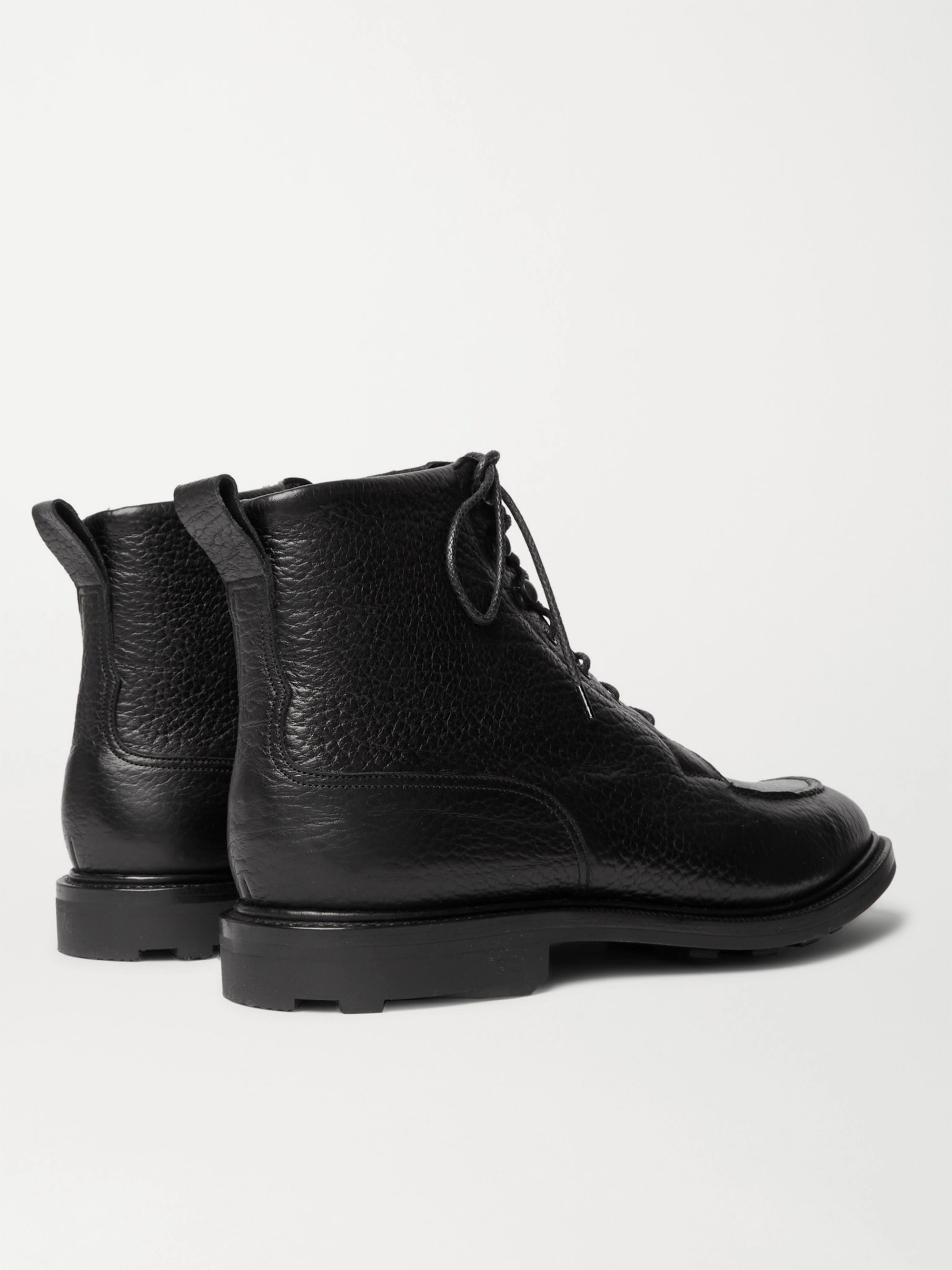 Edward Green Cranleigh Shearling-Lined Suede Boots