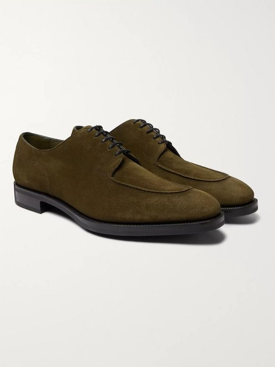 Edward Green Dover Textured-Leather Derby Shoes