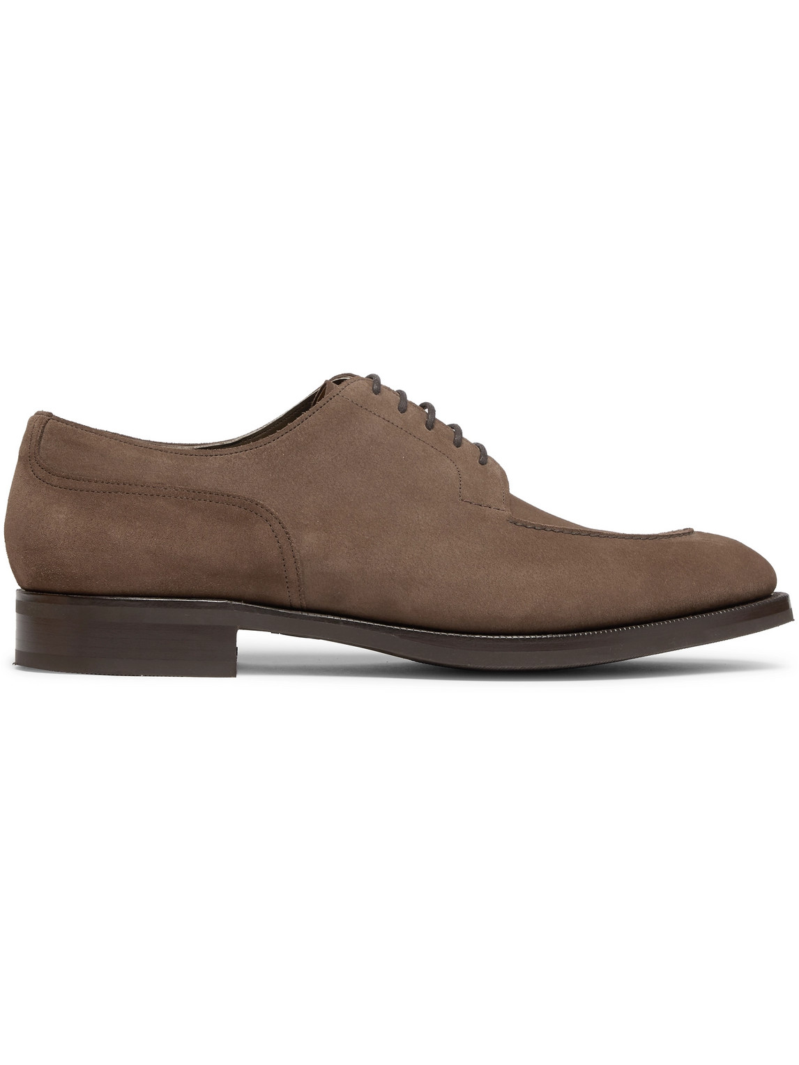 edward green - dover textured-leather derby shoes - men - brown - uk 10