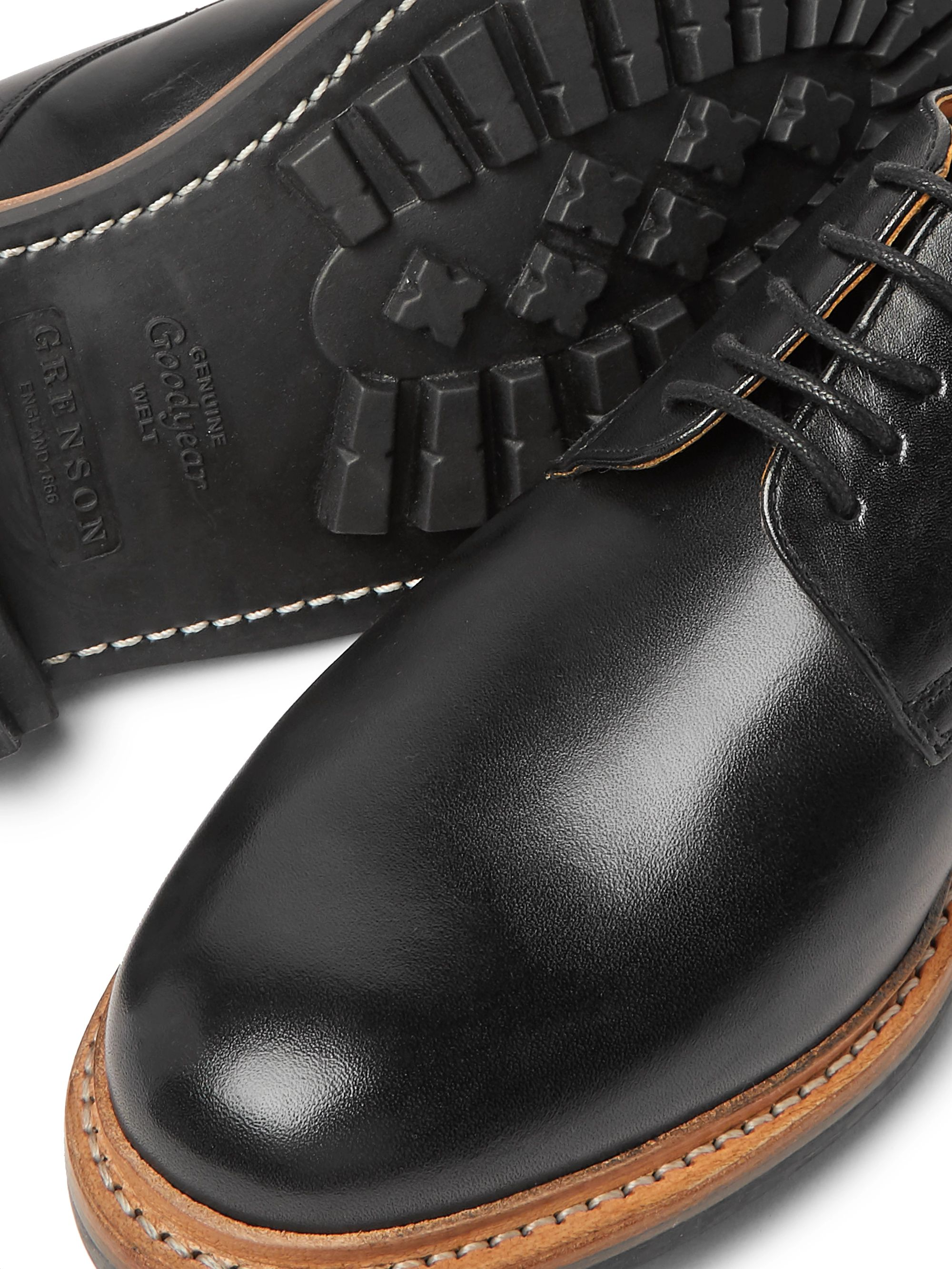 Grenson Curt Leather Derby Shoes