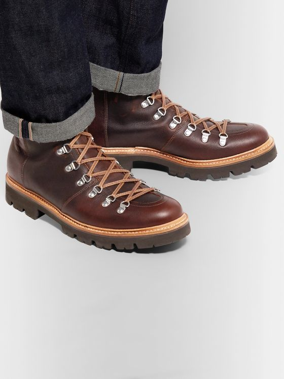 Grenson Brady Full-Grain Leather Boots