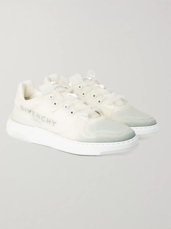 Givenchy Wing Logo-Print Translucent Rubber Sneakers