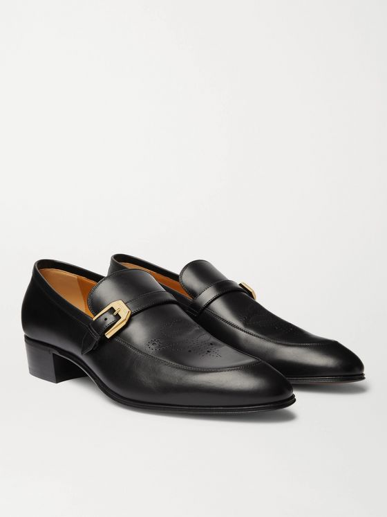 GUCCI Worsh Leather Loafers