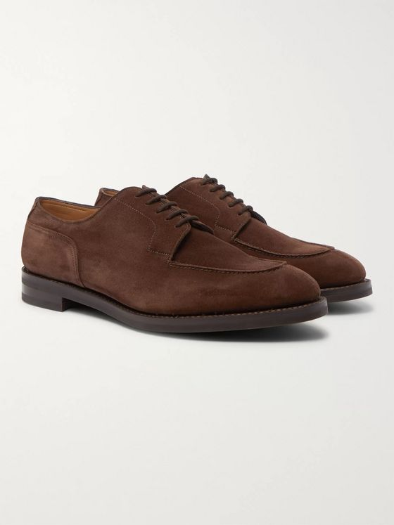 John Lobb Harlyn Suede Derby Shoes