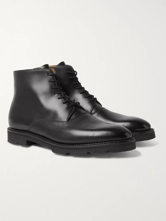 John Lobb Burrow Leather Boots