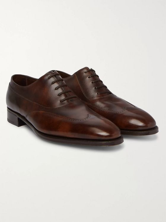 John Lobb Strand Museum Leather Oxford Shoes