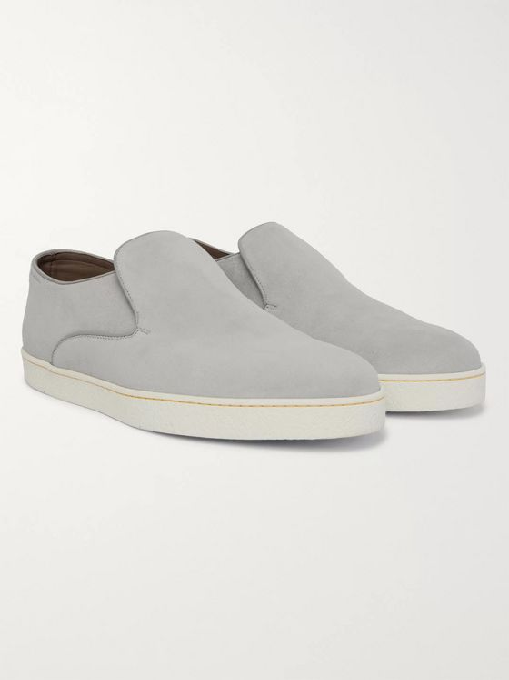 JOHN LOBB Haven Suede Slip-On Sneakers