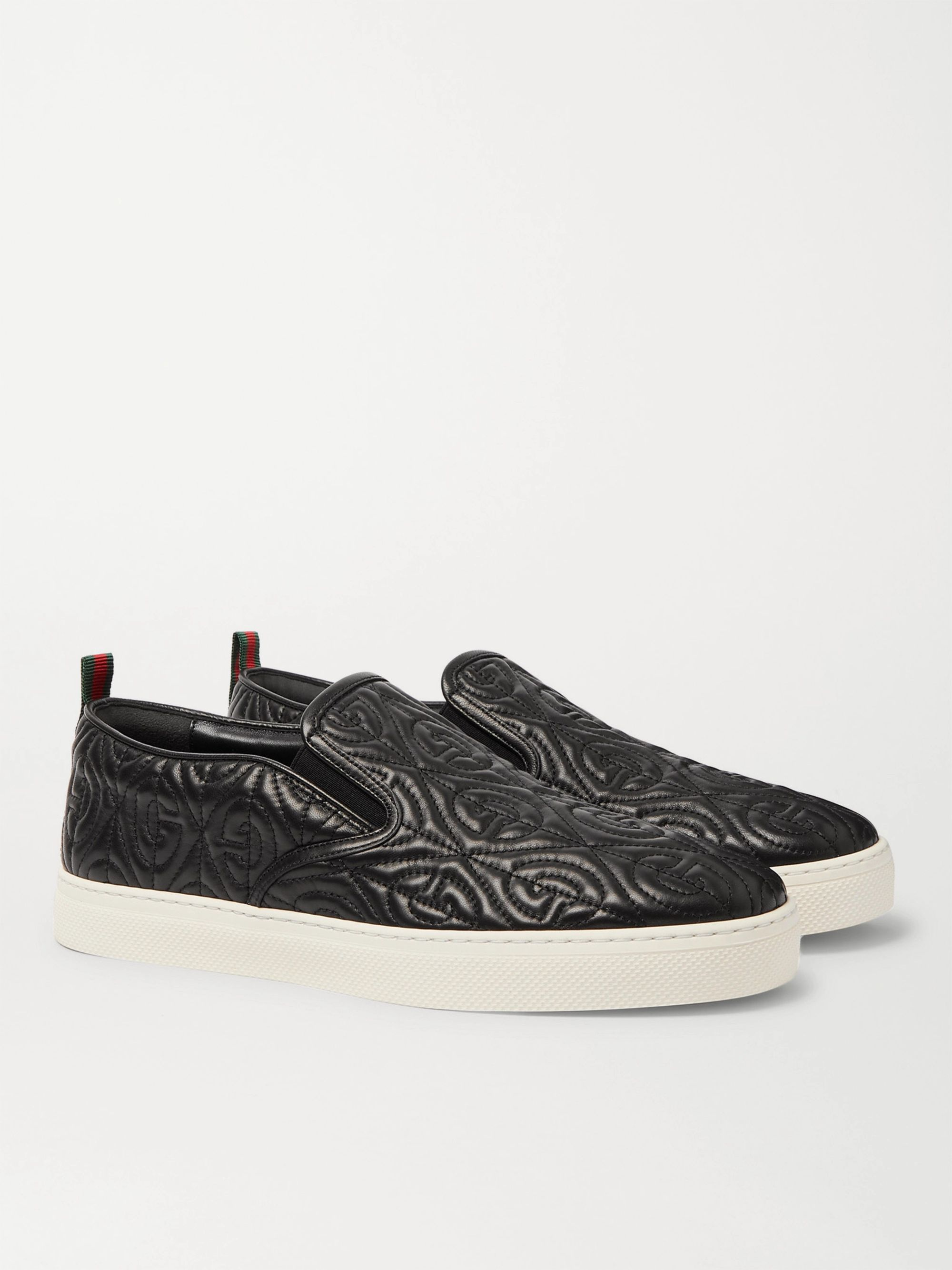 Gucci Dublin Quilted Leather Slip-On Sneakers