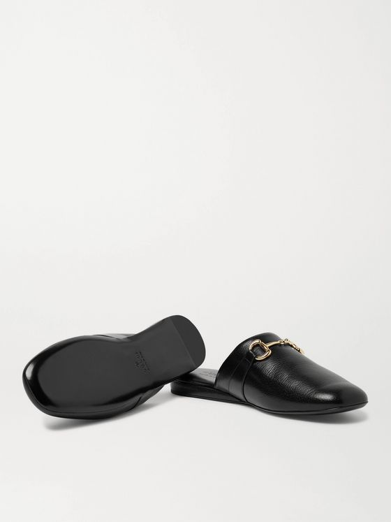 Gucci Pericle Horsebit Leather Slippers