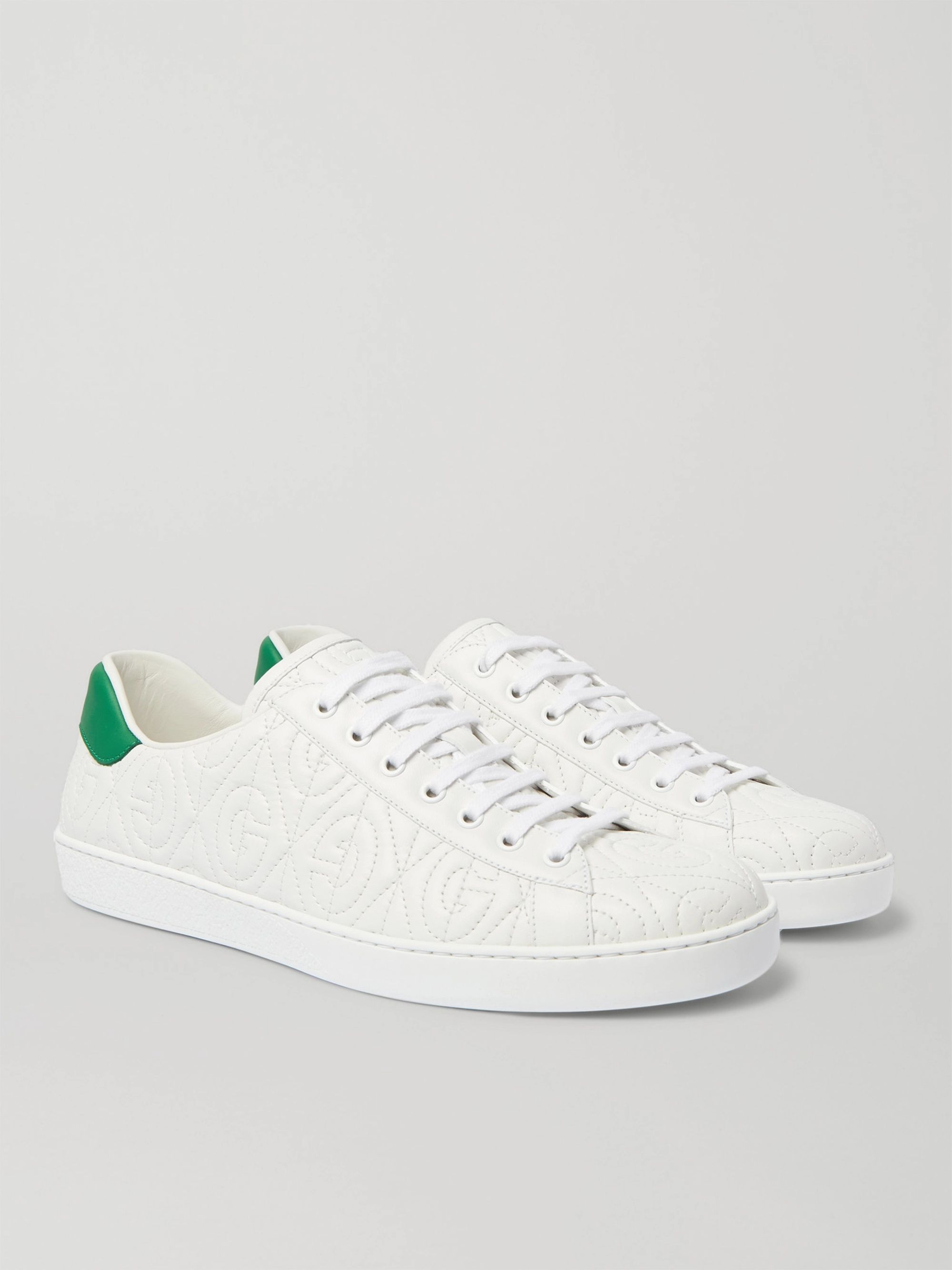 Gucci Ace G Rhombus Quilted Leather Sneakers