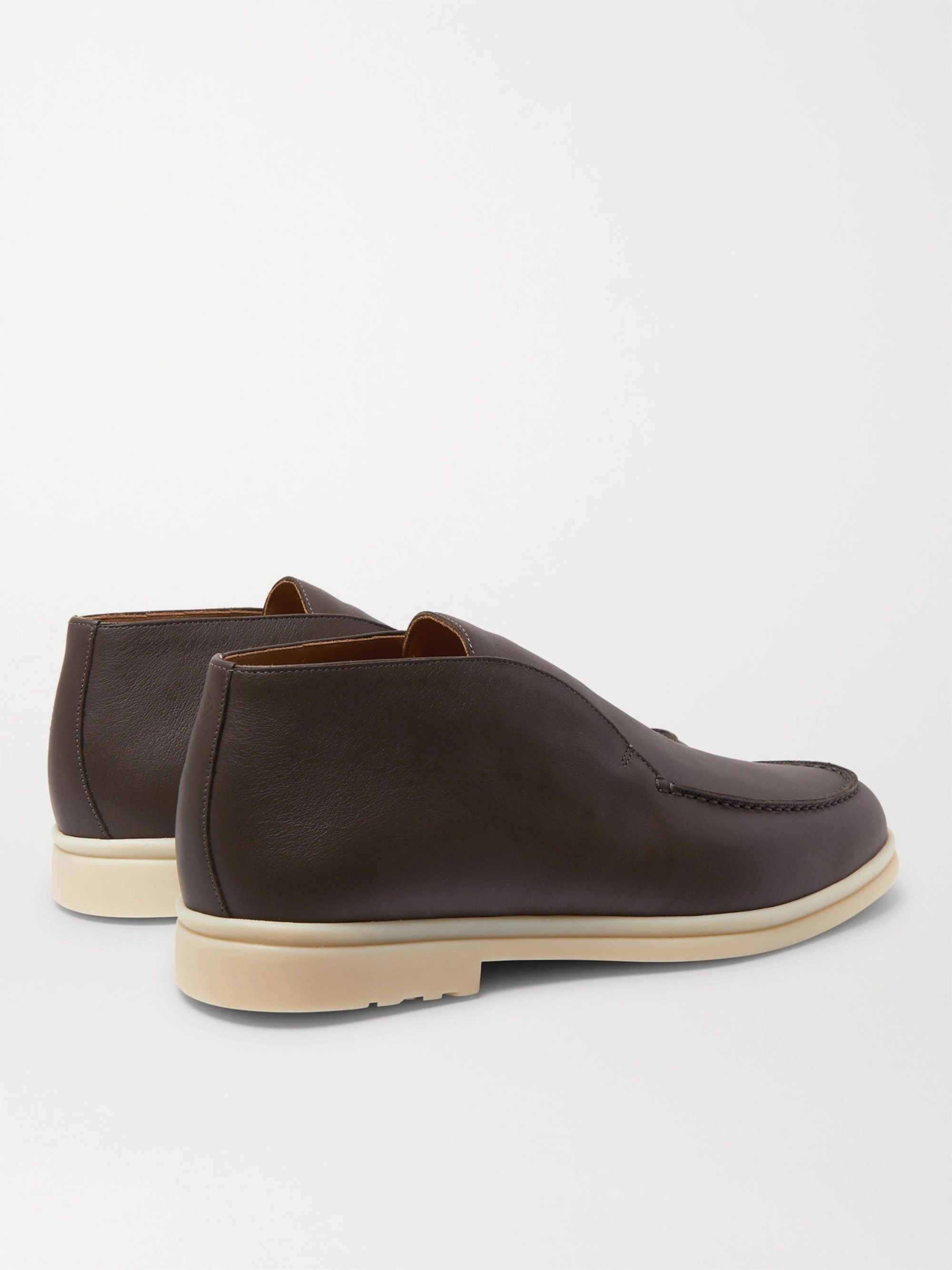 Loro Piana Open Walk Leather Boots