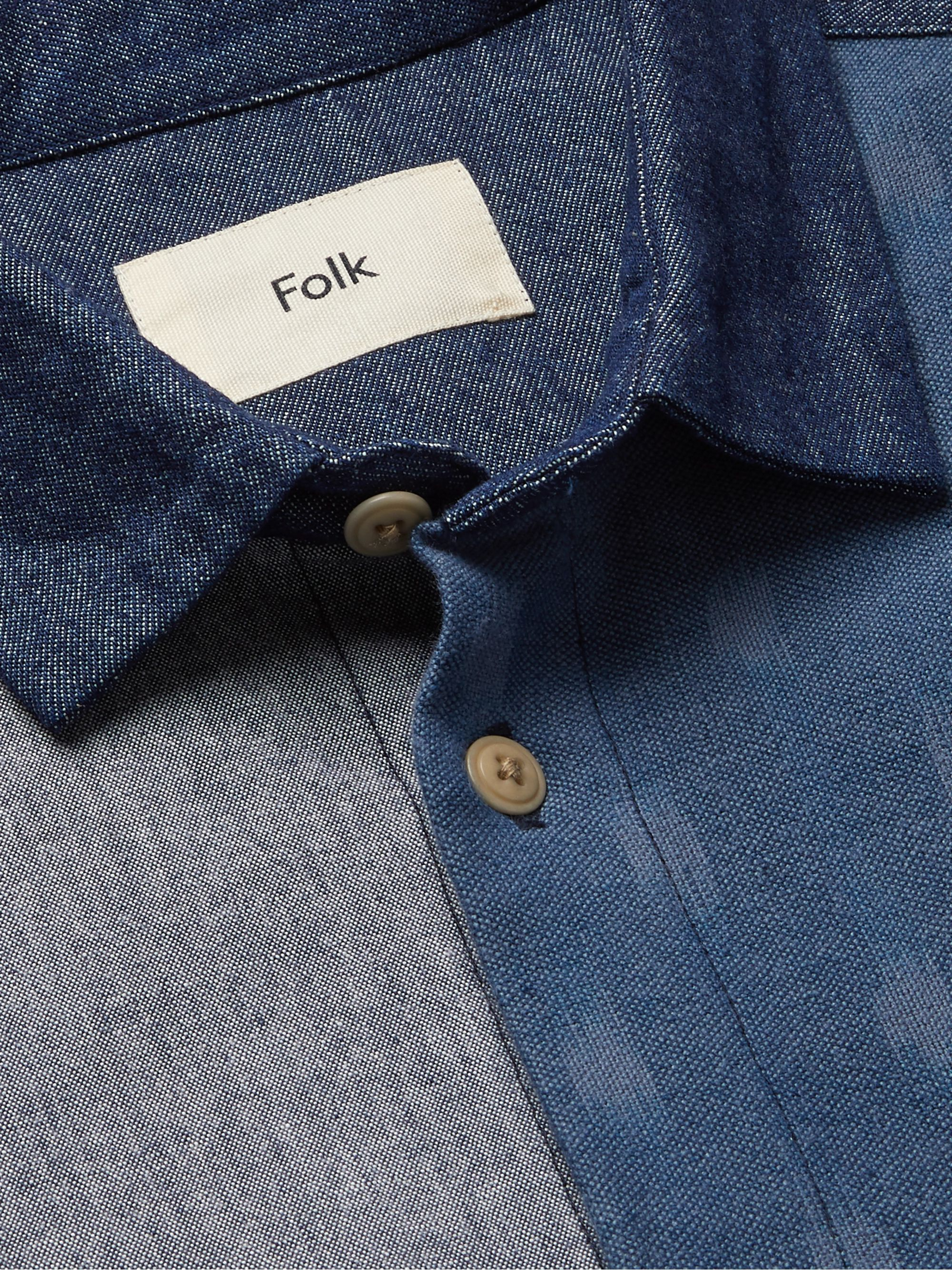 Folk Panelled Cotton Shirt