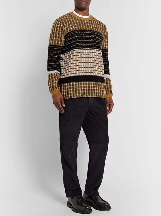 Folk Fraction Ribbed Wool-Blend Sweater
