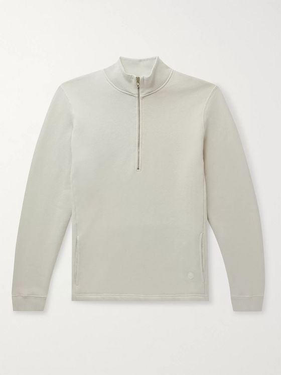 Folk Everyday Loopback Cotton-Jersey Half-Zip Sweatshirt