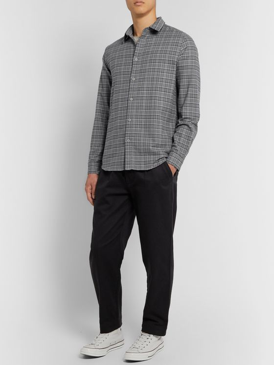 Folk Storm Checked Organic Cotton-Flannel Shirt
