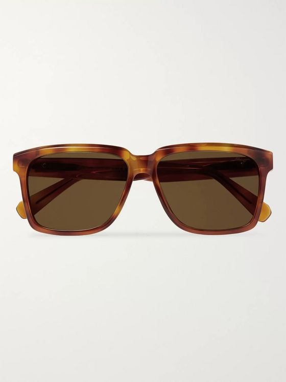 Brioni Square-Frame Acetate Sunglasses