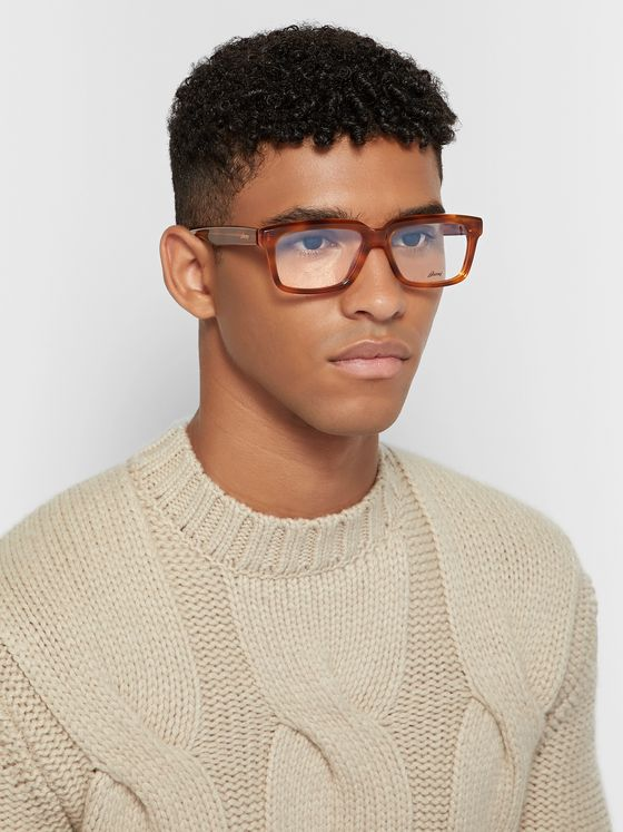 Brioni D-Frame Tortoiseshell Acetate Optical Glasses