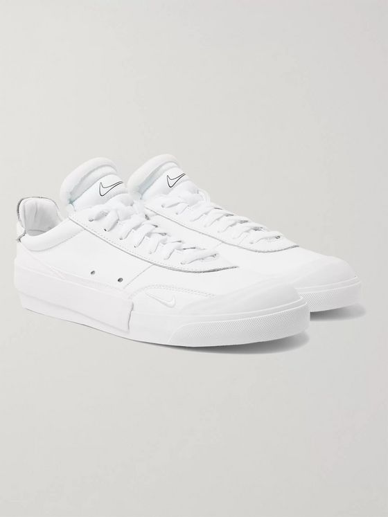 Nike Drop-Type Rubber-Trimmed Leather Sneakers