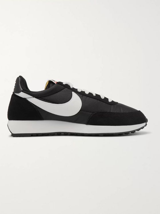 NIKE Air Tailwind 79 Shell, Suede and Leather Sneakers