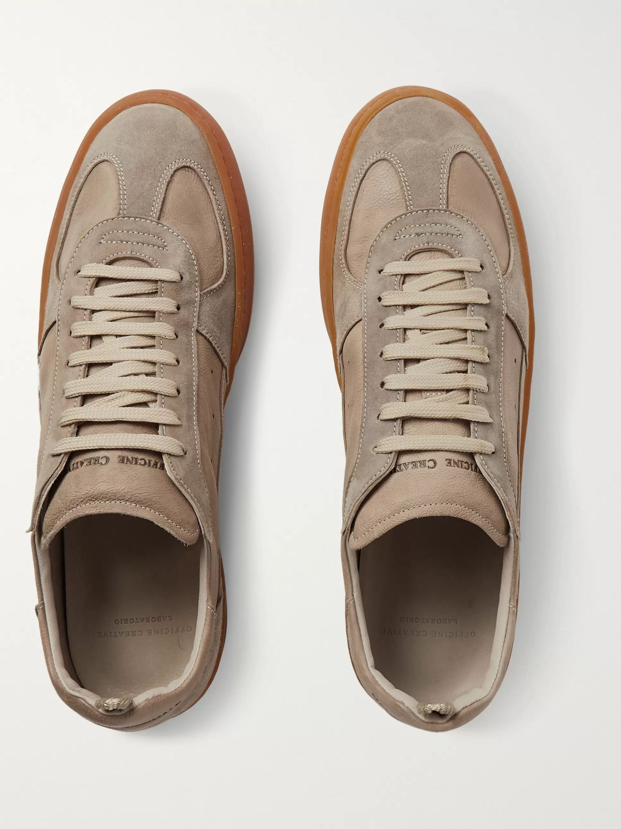 Officine Creative Kareem Suede and Leather Sneakers