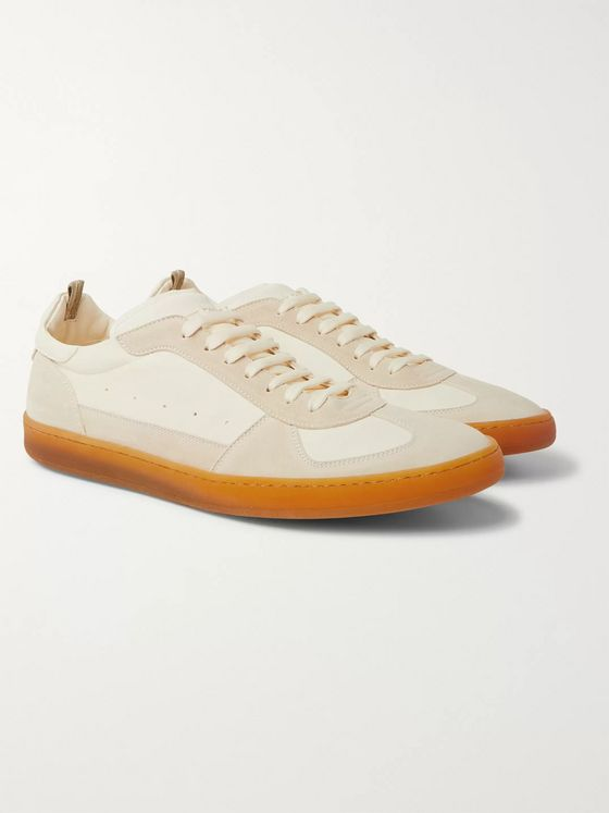 Officine Creative Kadette Suede and Leather Sneakers
