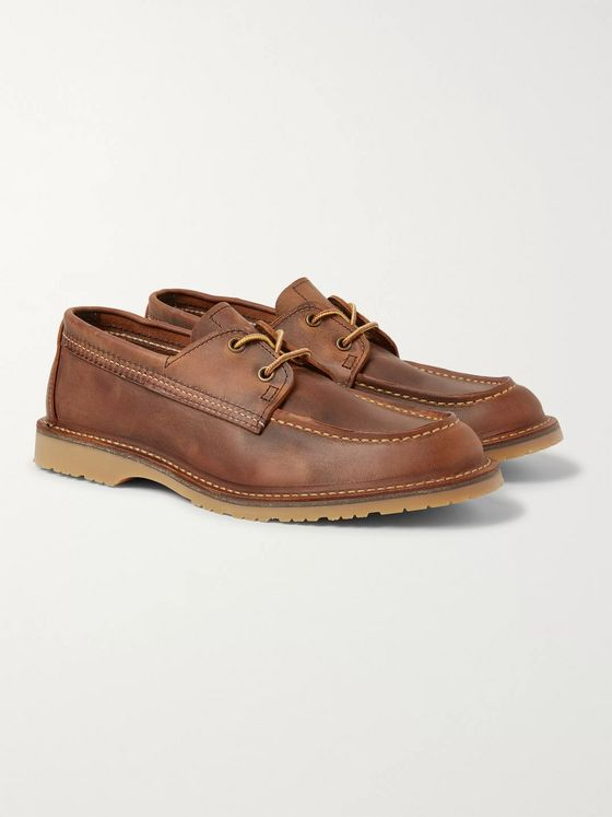 Red Wing Shoes Wacouta Burnished-Leather Loafers