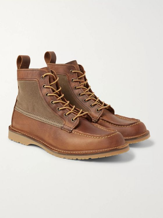 Red Wing Shoes Wacouta Leather and Waxed-Cotton Boots