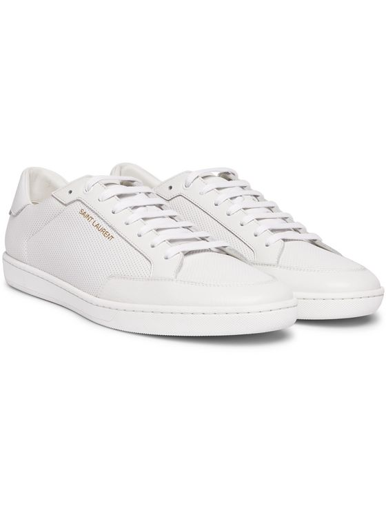 SAINT LAURENT SL/10 Perforated Leather Sneakers