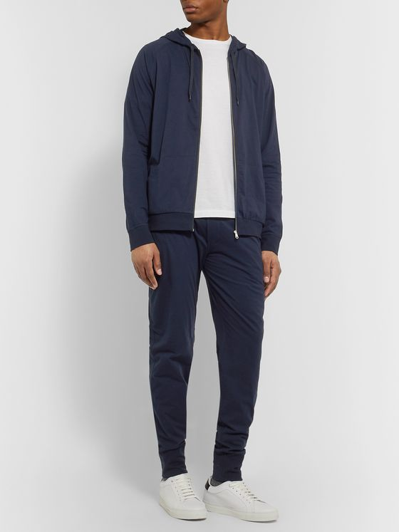 PAUL SMITH SHOES & ACCESSORIES Slim-Fit Cotton-Jersey Zip-Up Hoodie