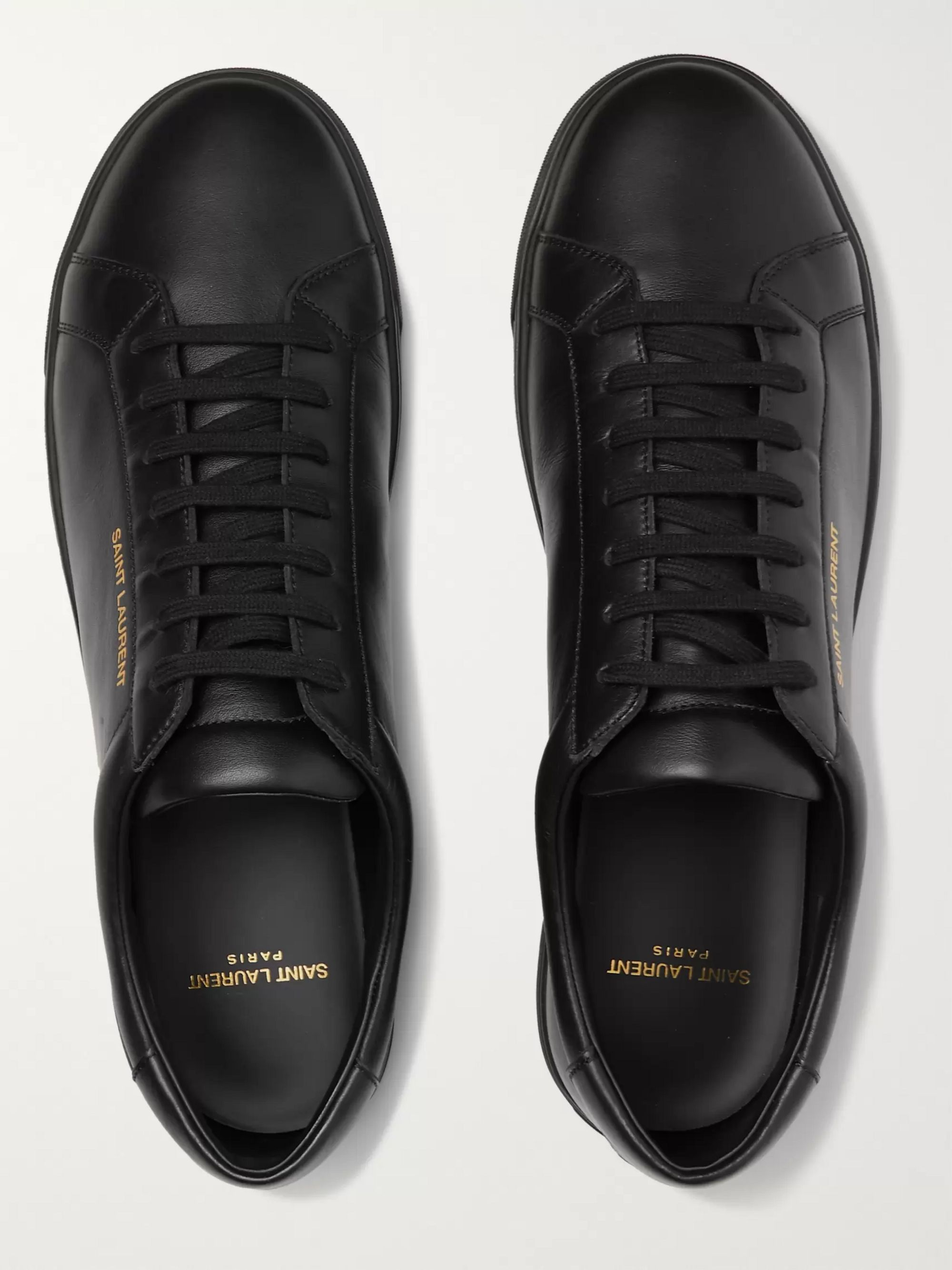 SAINT LAURENT Andy Moon Leather Sneakers