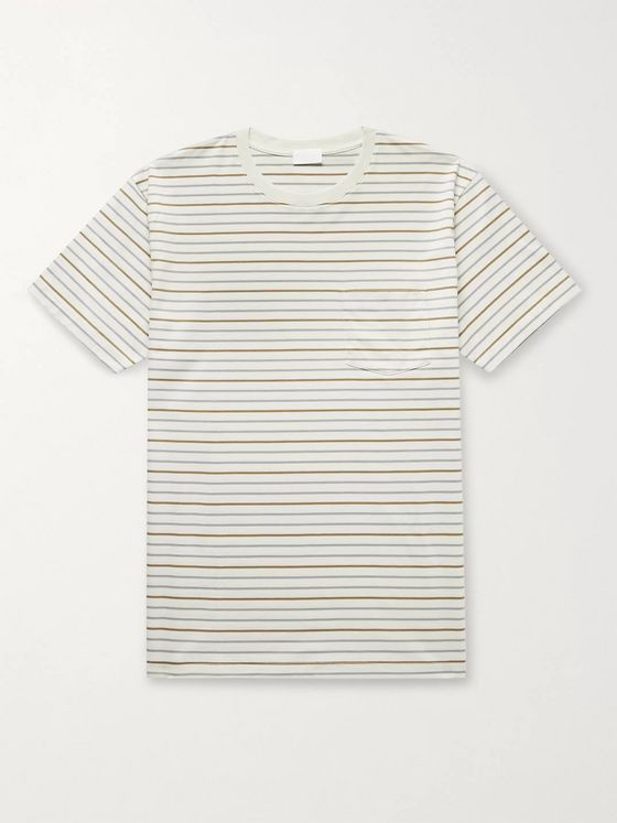 Handvaerk Striped Pima Cotton-Jersey T-Shirt