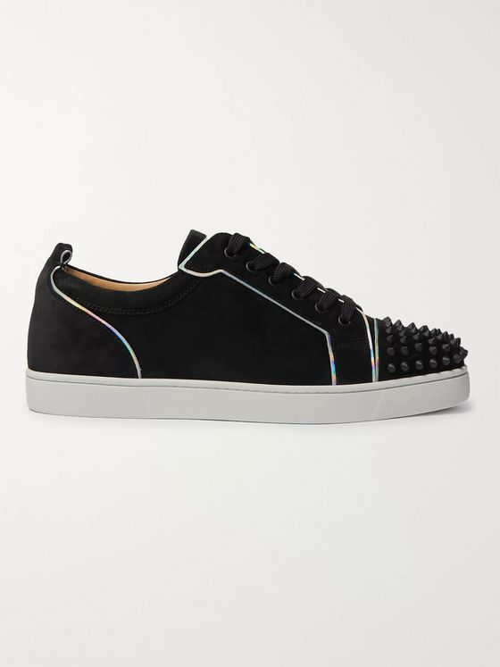 Christian Louboutin Louis Junior Spikes Cap-Toe Suede Sneakers
