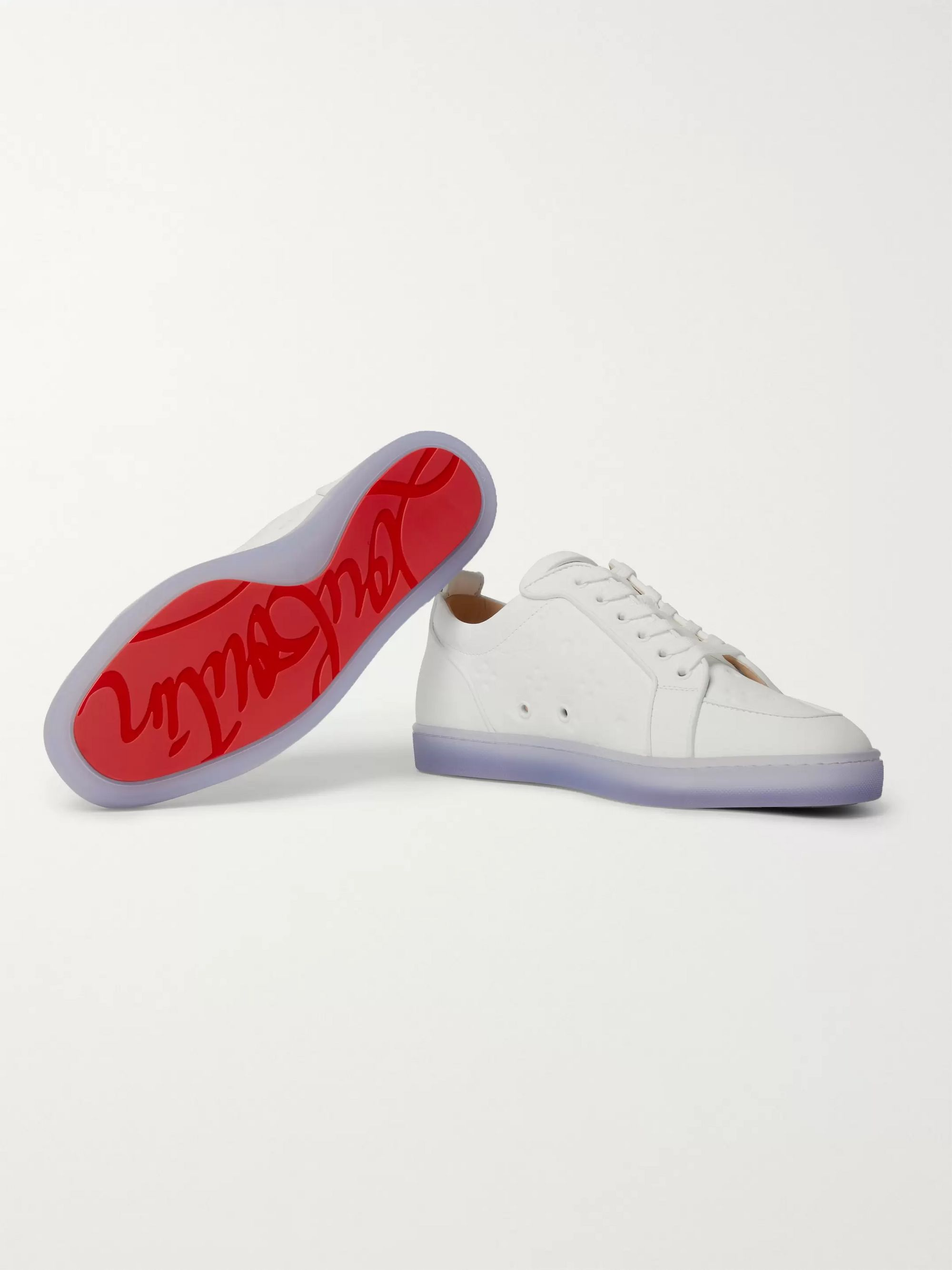 Christian Louboutin Rantulow Orlato Debossed Leather Sneakers