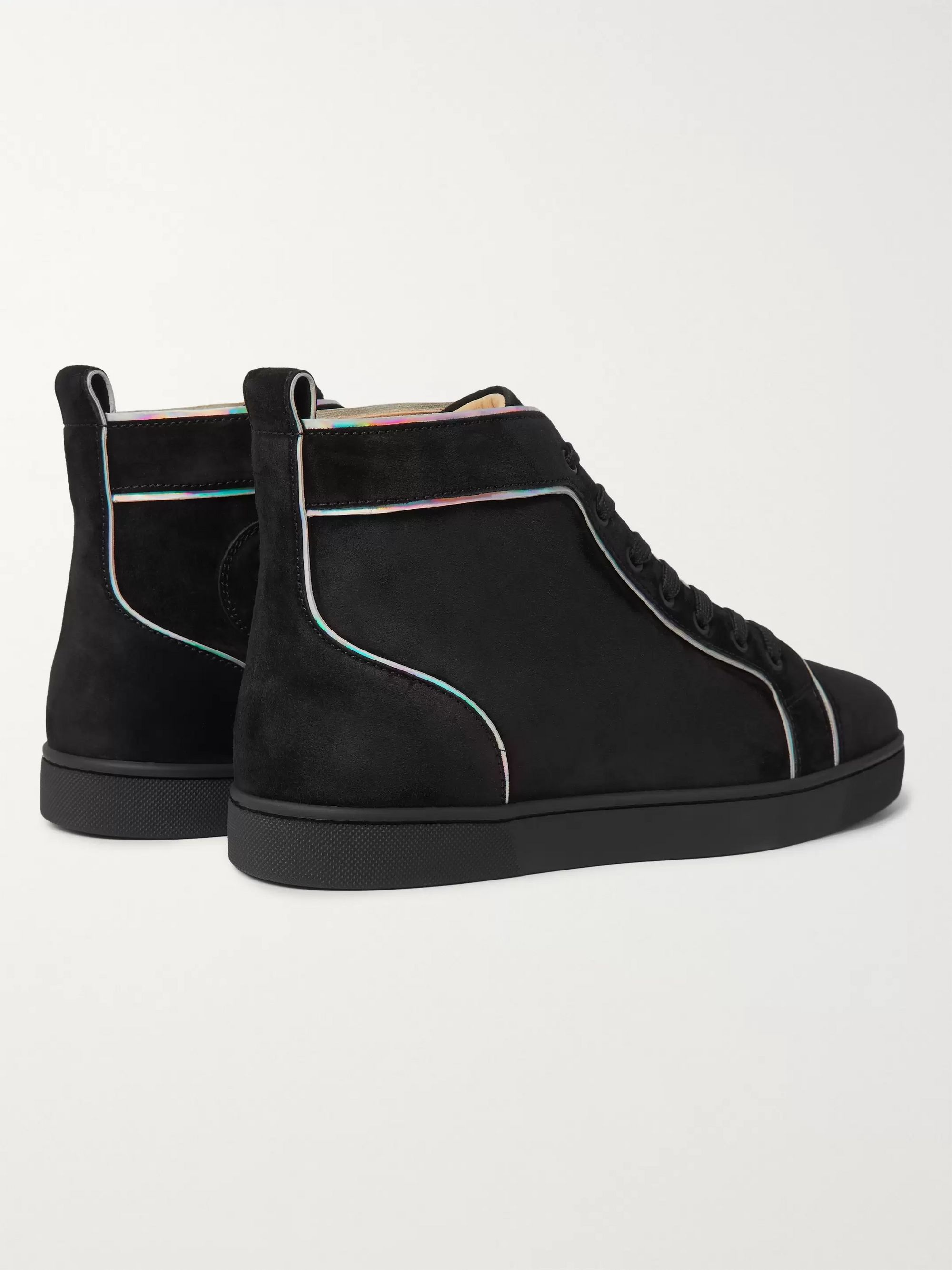 Christian Louboutin Louis Orlato Suede High-Top Sneakers