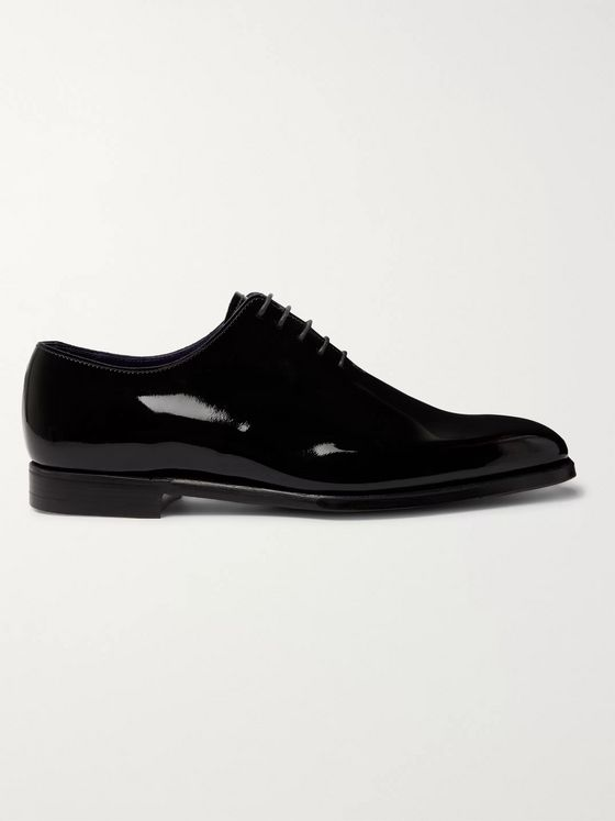 George Cleverley James Whole-Cut Patent-Leather Oxford Shoes