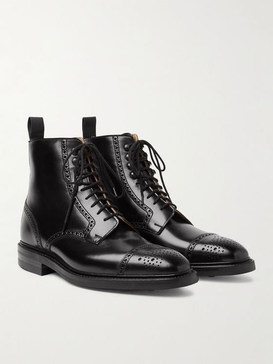 George Cleverley Toby Polished-Leather Brogue Boots
