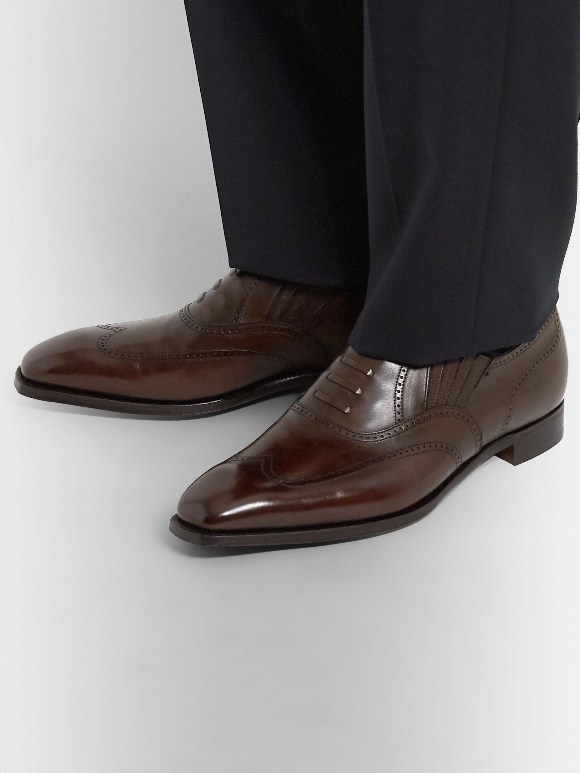 George Cleverley Winston Leather Oxford Brogues