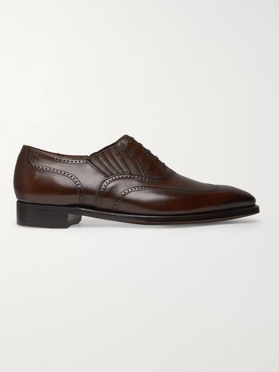 George Cleverley Winston Leather Slip-On Brogues