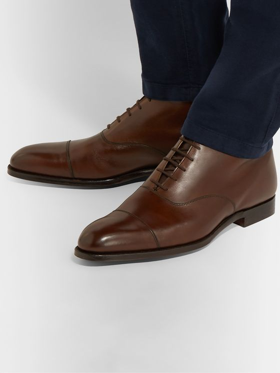 George Cleverley William Cap-Toe Leather Boots