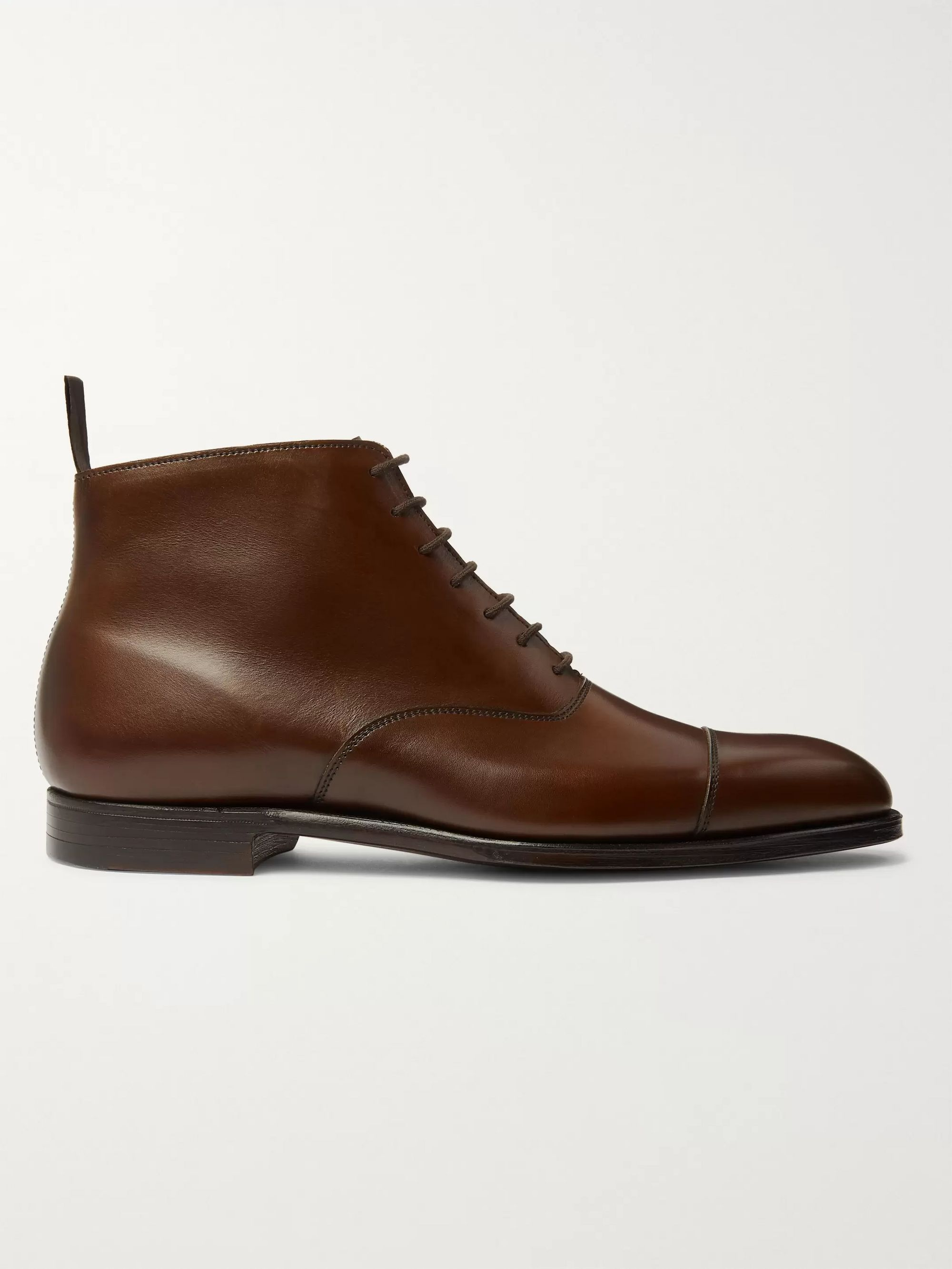 George Cleverley William Cap-Toe Cotswold Grain Leather Boots